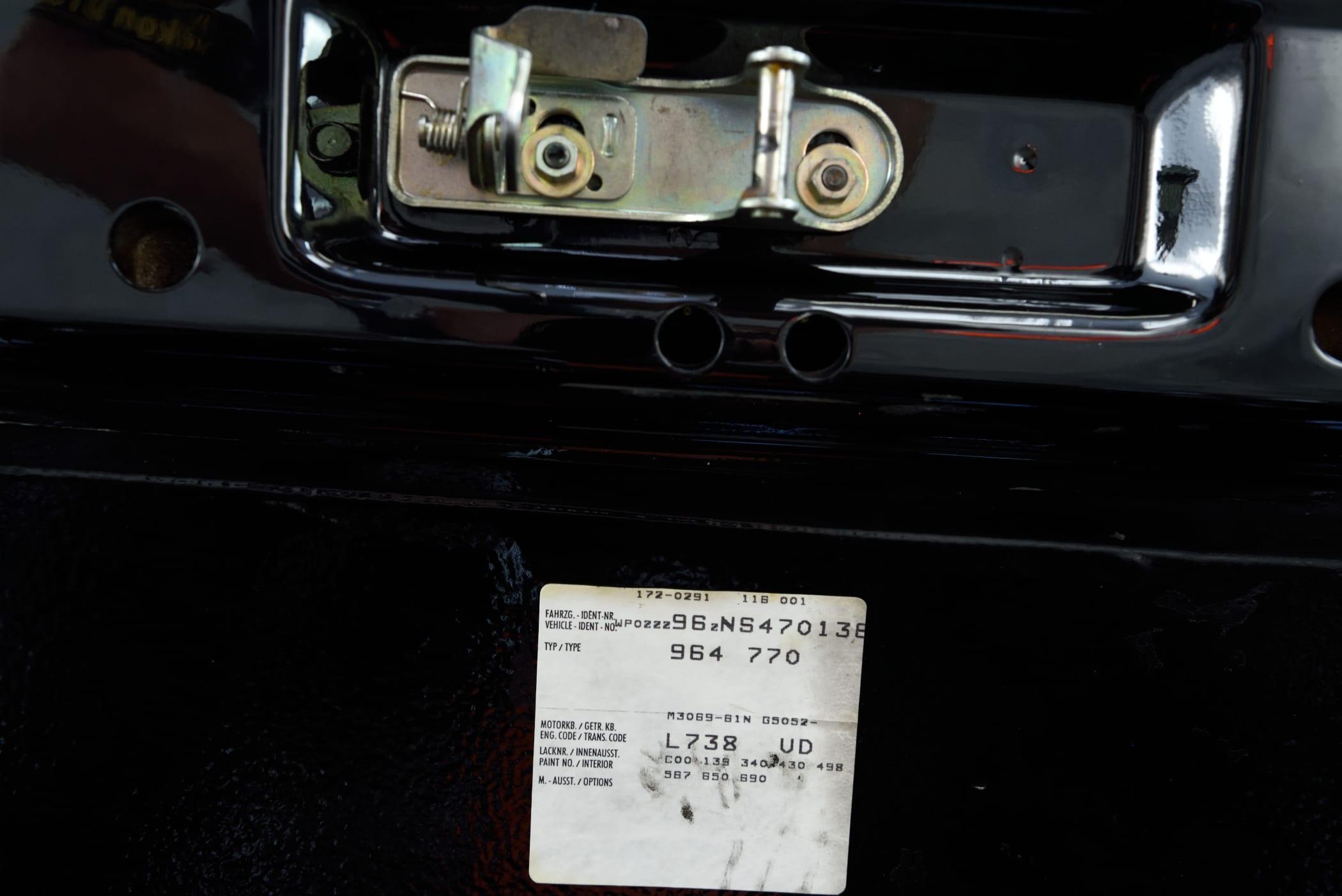 Porsche 964 Fahrzeugdatenträger